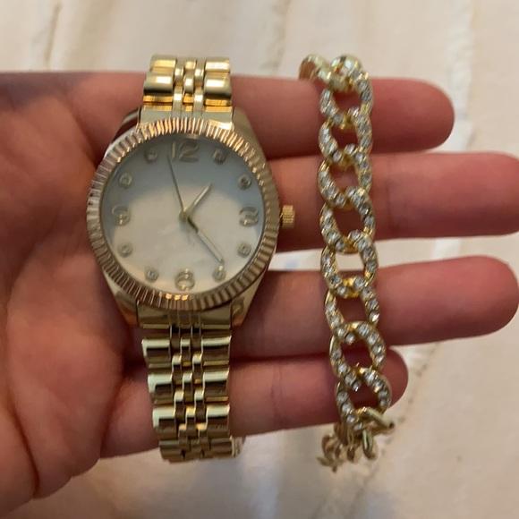 Vintage Watch and Bracelet Set